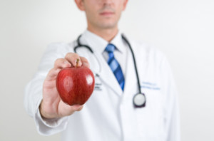 Doctor prescribes apple