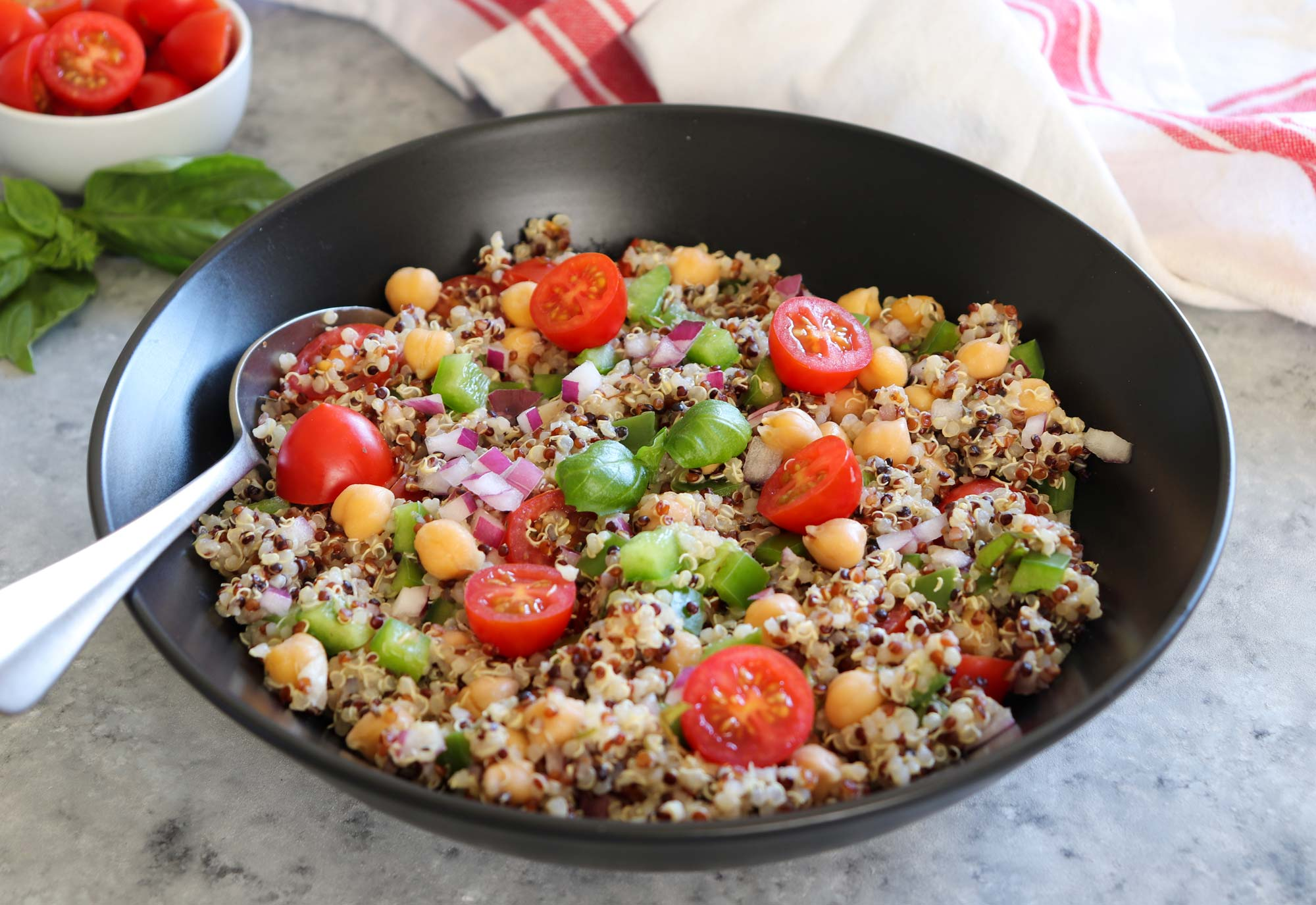 Plant-based dinner recipes: Italian quinoa salad