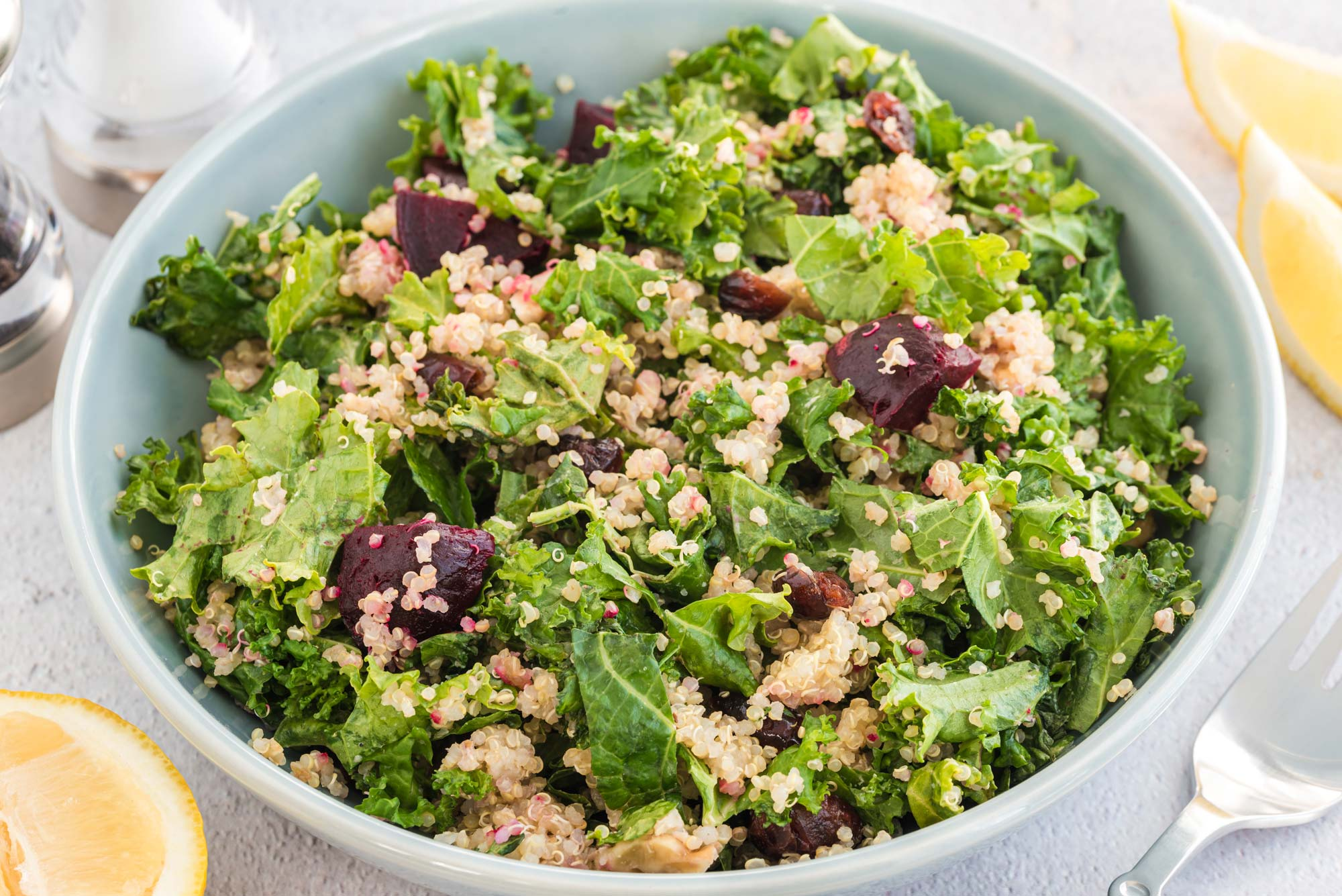 plant-protein powered salad