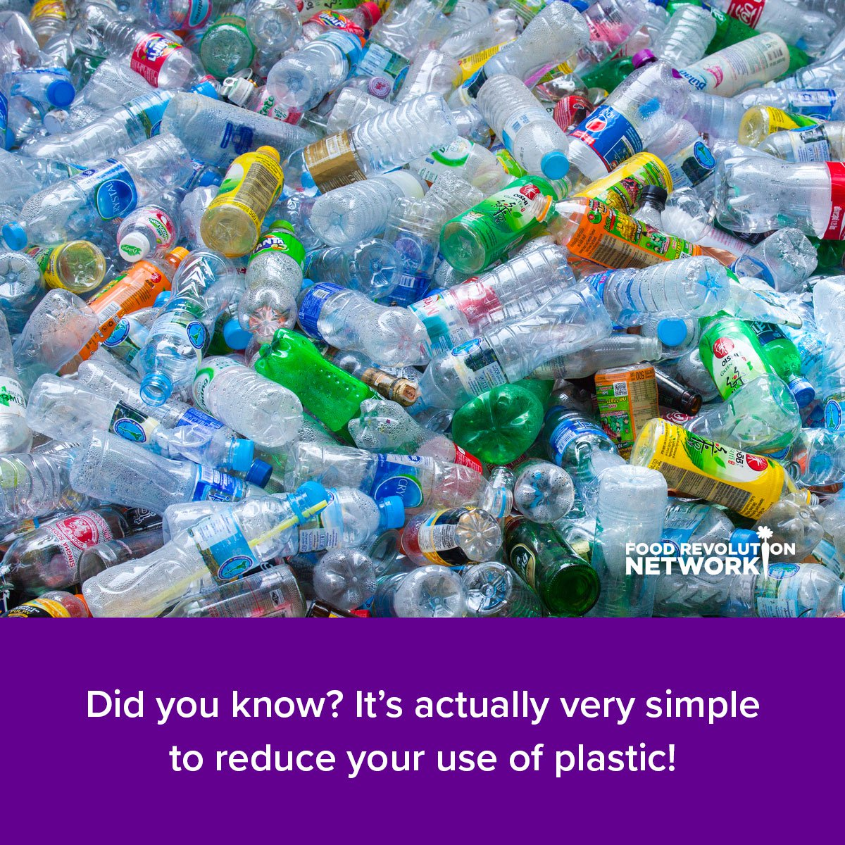 Did you know? It's actually very simple to reduce your use of plastic!
