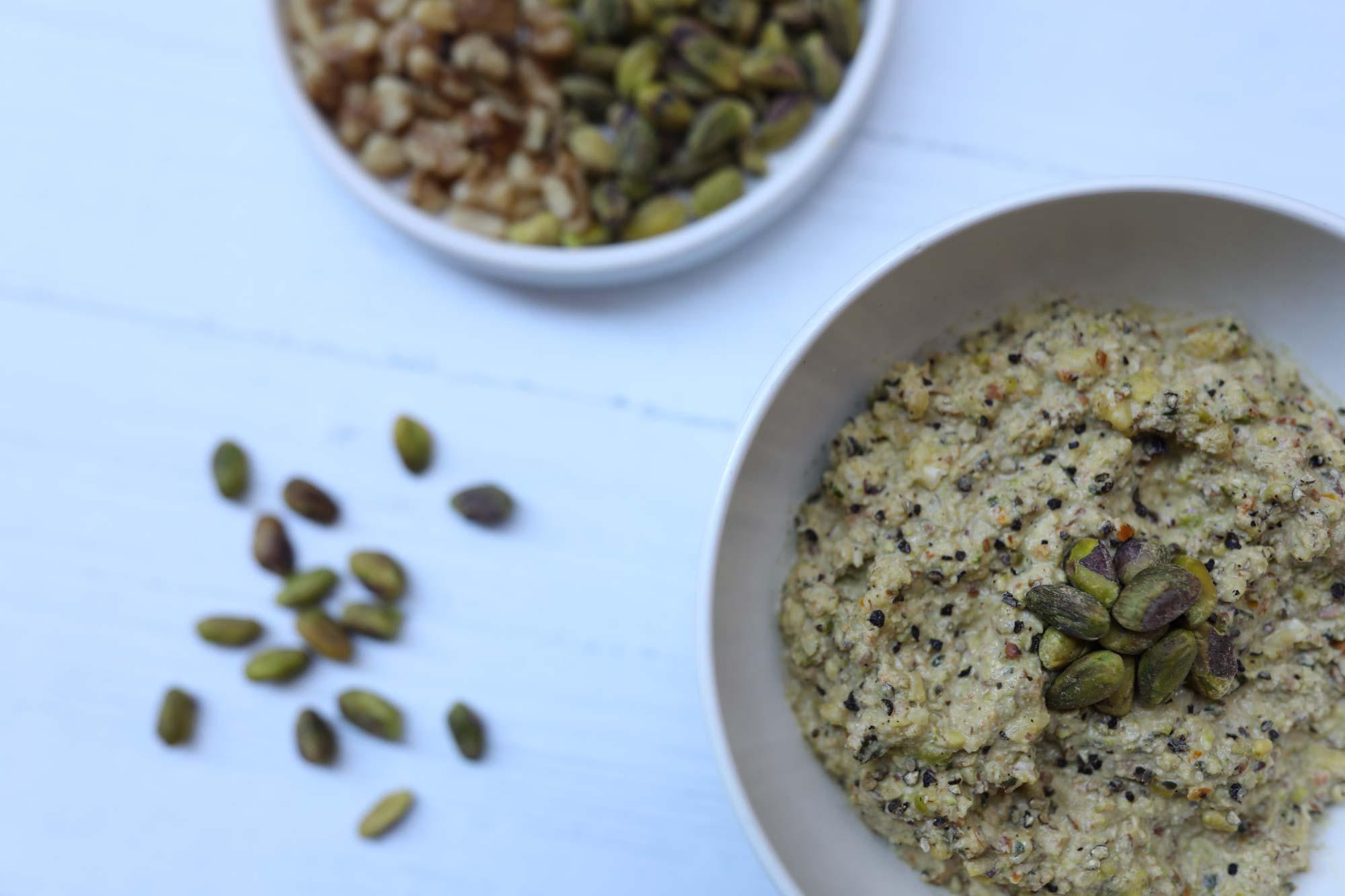 rawsome nut dip in bowl