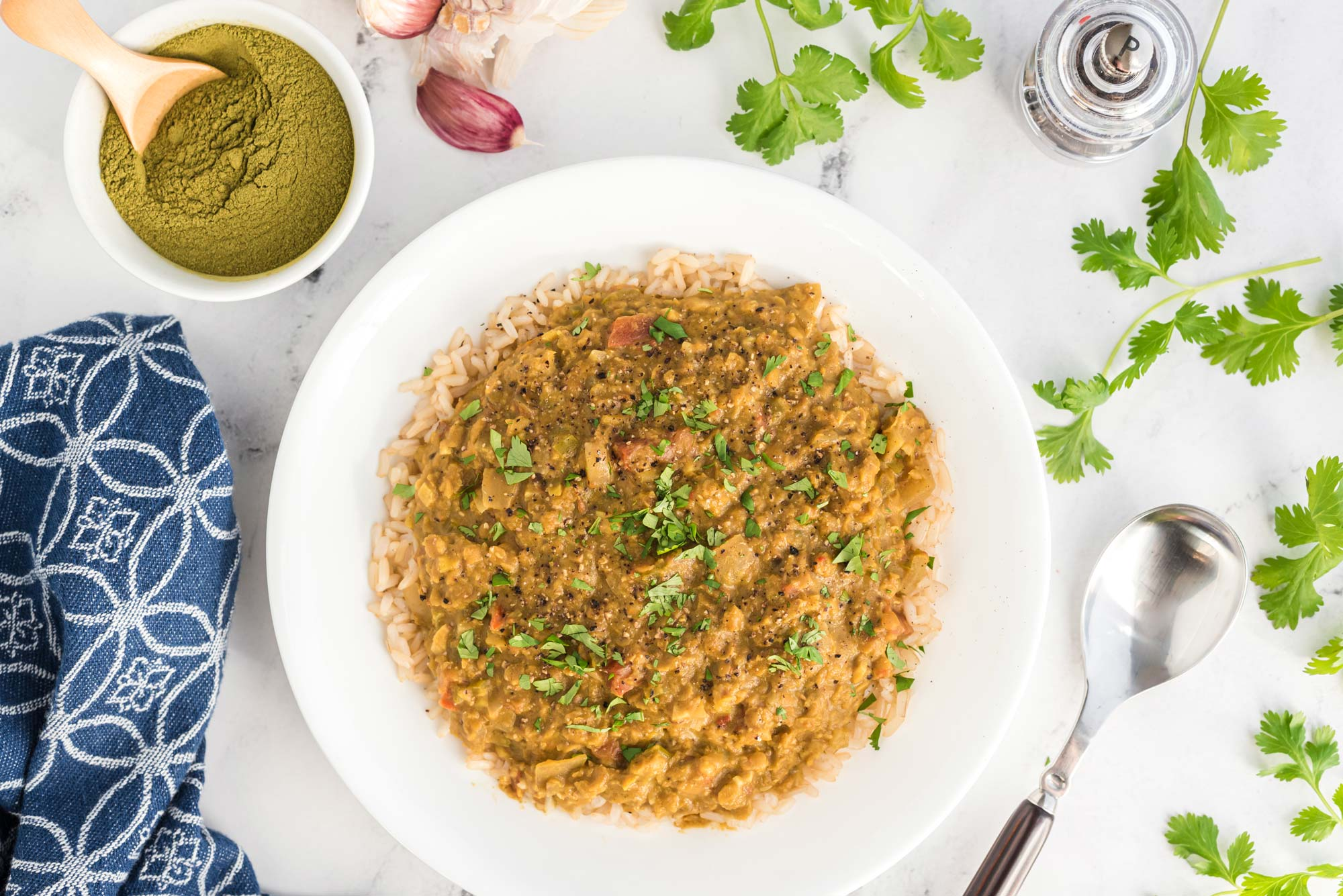 slow cooker moringa dal in bowl