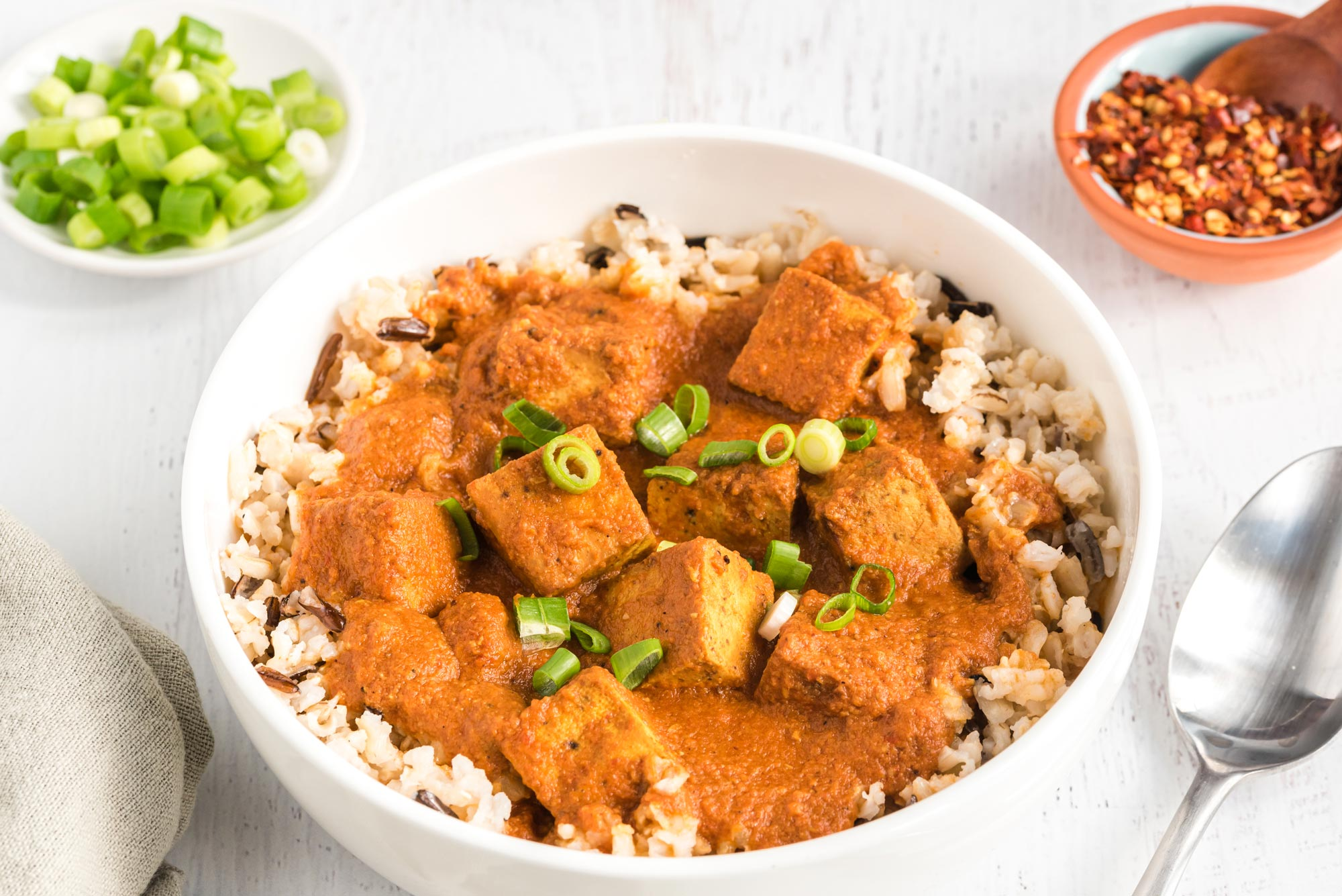 tofu tikka masala in bowl
