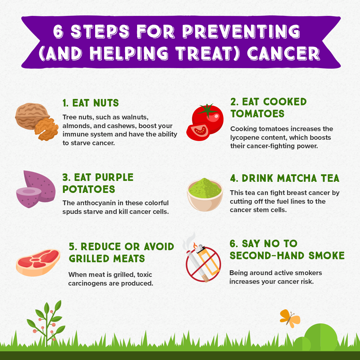 6 Steps for Preventing and Helping Treat Cancer