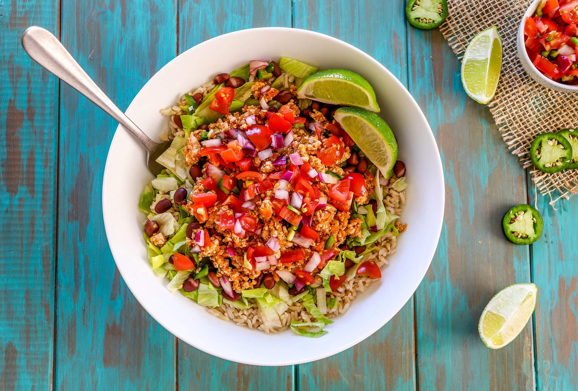Plant-Based Meal Prep: Sofritas Burrito Bowl