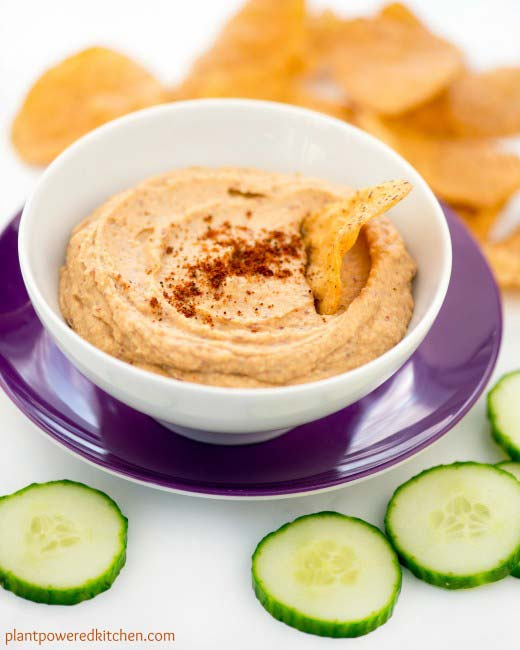 Easy plant based recipes:Sweet Potato Hummus