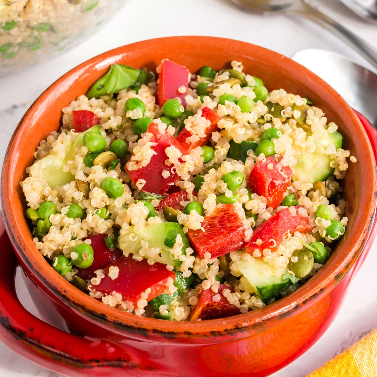 Easy plant based recipes: Spring Quinoa Salad