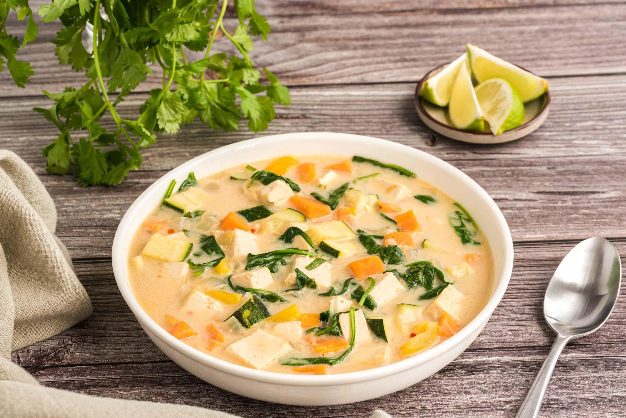 thai vegetable stew in bowl