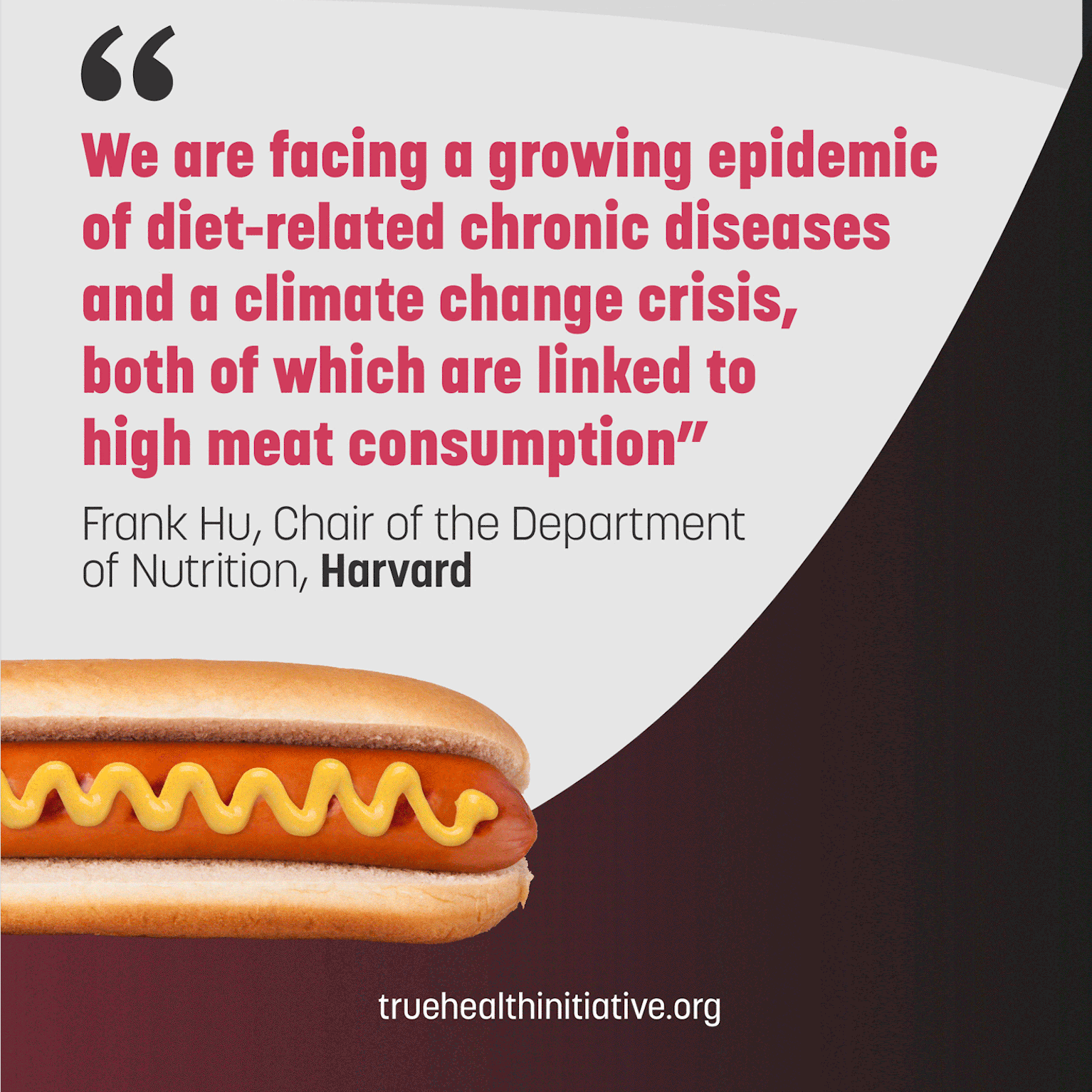 wrong claim about red and processed meat quote Frank Hu